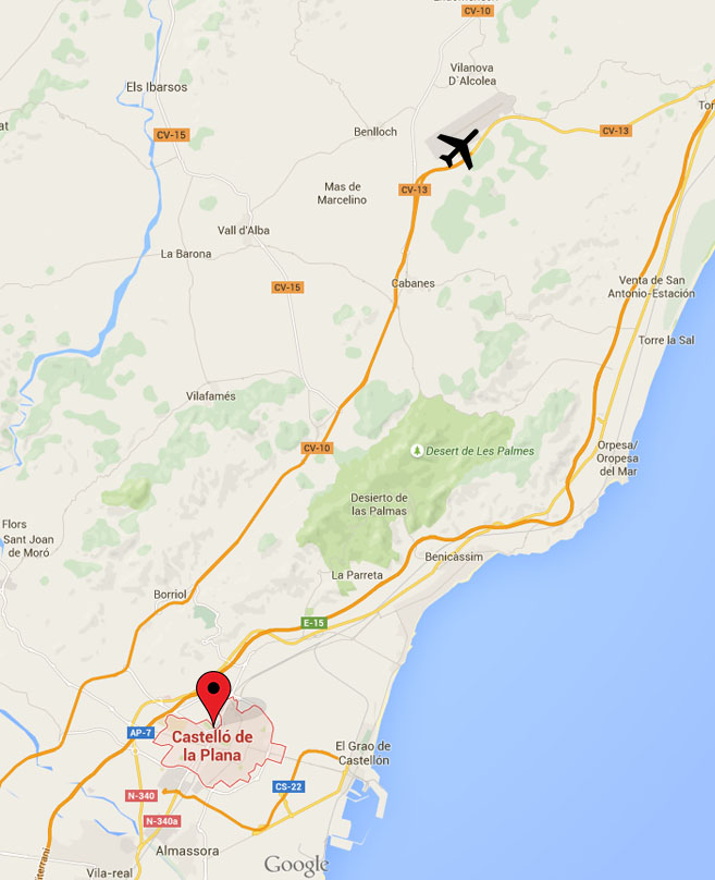 Aeropuerto Mapa Castello Turismo