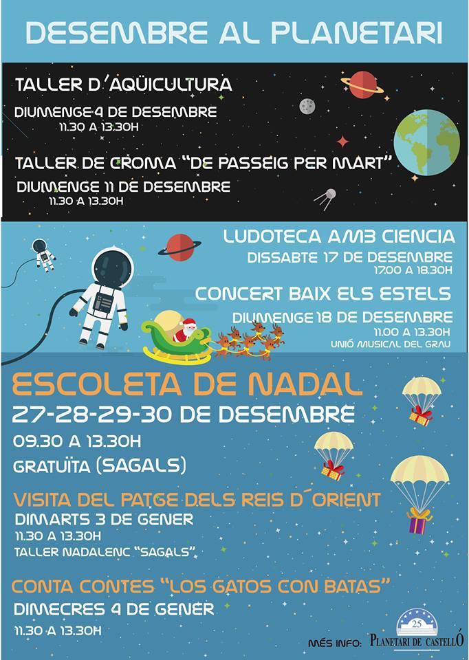 Actividades Planetario Diciembre