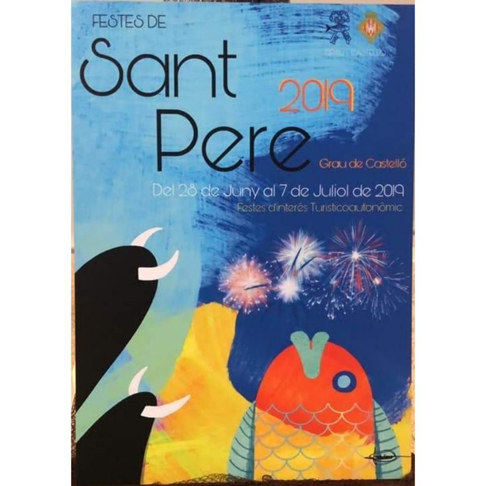 Cartel Fiestas de Sant Pere 2019