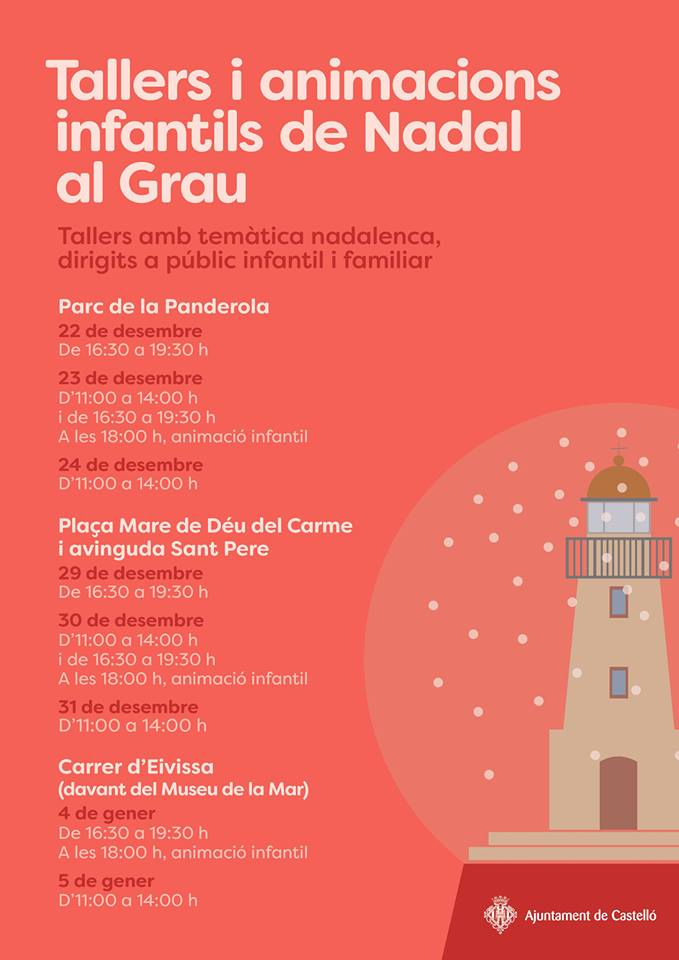 Christmas activities in the Grao de Castellón