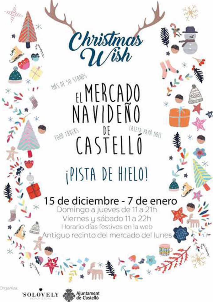 Christmas Wish, the christmas market of Castellón
