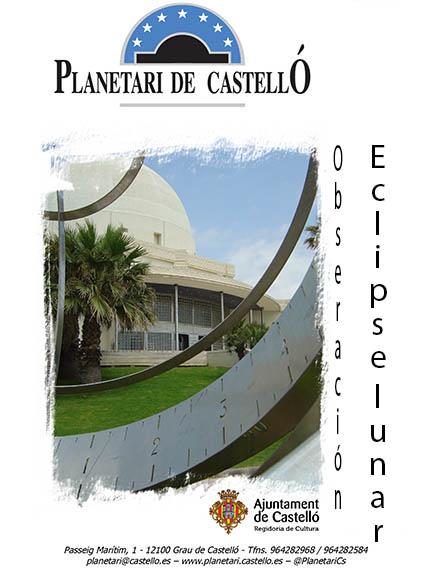PLANETARI DE CASTELLÓ. Observacion eclipse lunar