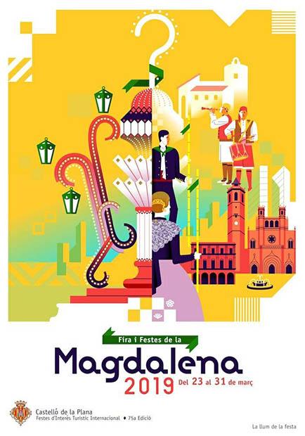Cartel de las fiestas de la Magdalena 2019