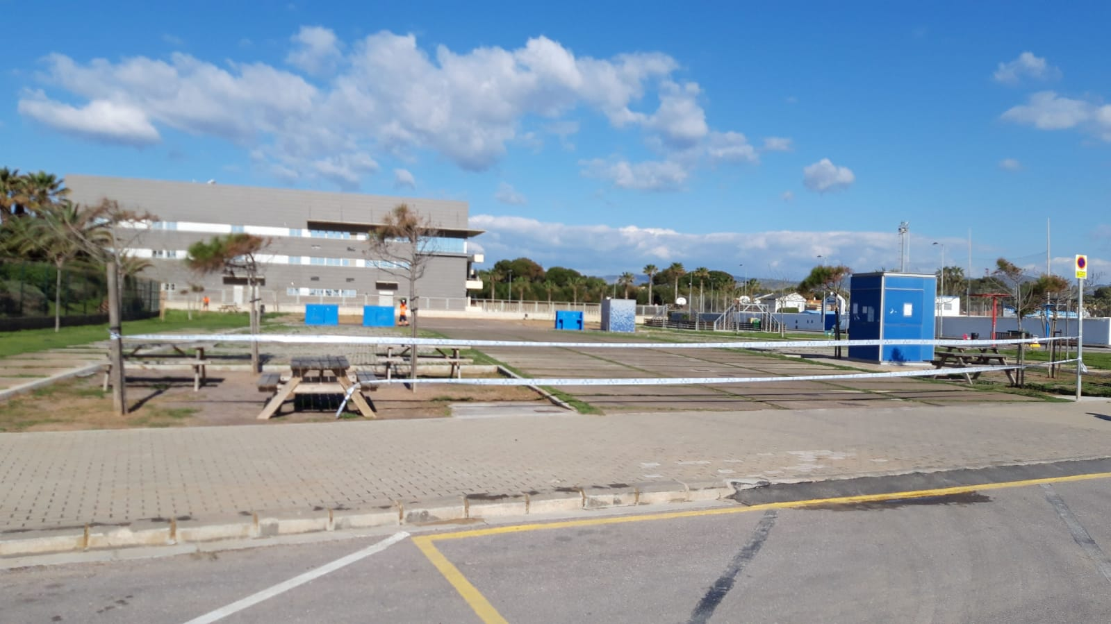Parking AC Castello cerrado por COVID-19