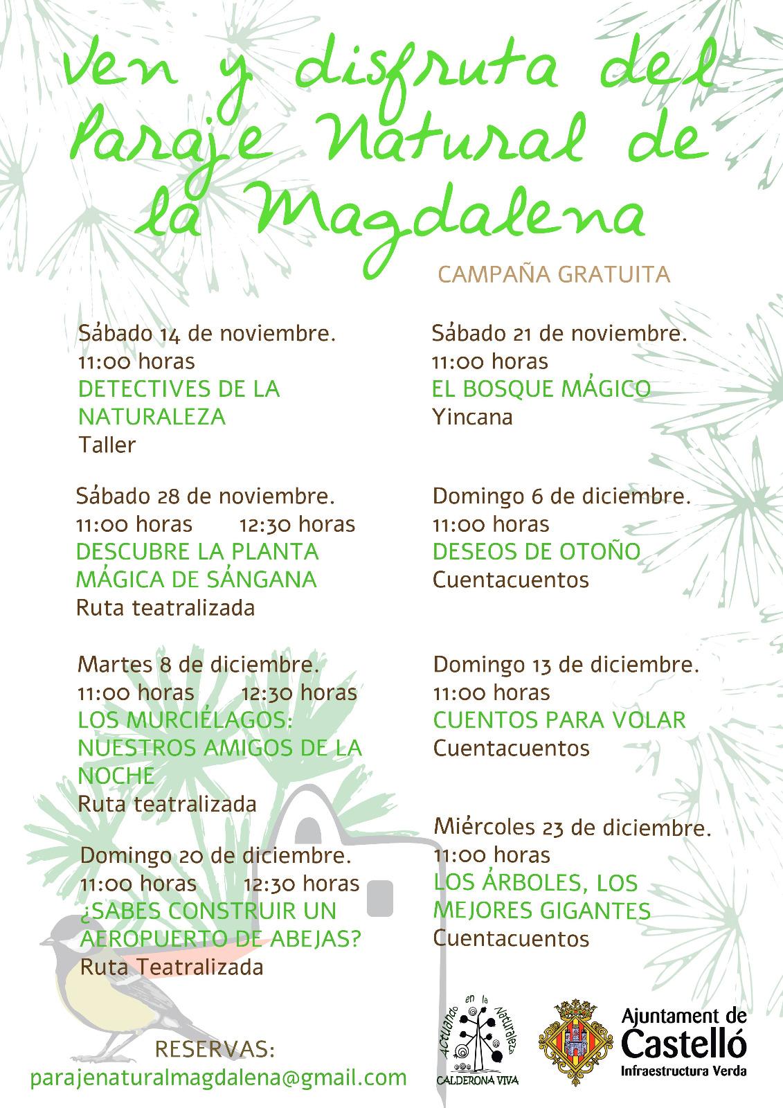 Actividades en el Parque Natural de la Magdalena